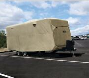 Adco Rv Travel Trailer Motorhome Storage Lot Cover - Fits 26'1 To 28'6 - Tan