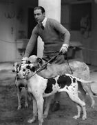 8x10 Print Rudolph Valentino Handsome Outdoor Dogs 9965