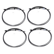 4x 18ft 16ft Throttle Shift Cable Black For Yamaha Boat Motor Control Lever