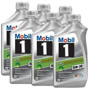 5.676 Liter 6 X Quart Mobil 1 Fully Synthetic Engine Oil Esp 5w-30