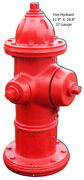 Vintage Antique Style Metal Sign Fire Hydrant Cutout 12x28