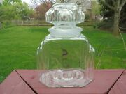 Old Antique Art Deco Style Glass Apothecary Drug General Store Jar
