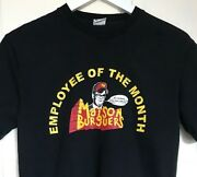 Vintage Retro Collectable Old Pull And Bear Employee Of The Month Burger T Shirt