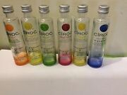 1 Lot 6 Colors Ciroc French Vodka Empty Miniature Bottle For Collectible
