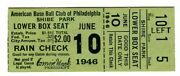 Nice 1946 Philly A's/chi White Sox Ticket Stub-6/10/46-shibe Park