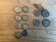 Mexico 12.20 In Coins Plus Mix Of Barbados/brazil Coins