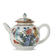Chinese English Decorated Floral Teapot C.1740
