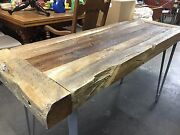 Rustic Console Reclaimed Wood Distressed Primitive Foyer Entryway Table