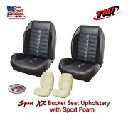 Sport Xr F/r Seat Upholstery And Sport Foam 1964 - 67 Mustang Coupe, Made In Usa
