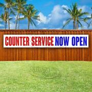 Counter Service Now Open Advertising Vinyl Banner Flag Sign Large Huge Xxl Size