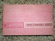 1970 Camaro Ss Gm Factory Original Owners Manual Canadian First Edition Rare