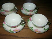 Set Of 4 Franciscan Desert Rose Cups And Saucers ..see Pictures