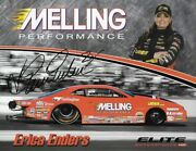 Signed 2018 Erica Enders Melling Performance Nhra Pro Stock Handout Postcard