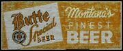 Vintage Style Wood Sign Butte Montana Beer 36x15
