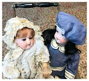 2 Armand Marseille 390n Antique Dolls - Sisters That Canandrsquot Be Separatedandnbsp