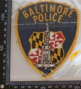Vintage Baltimore Police Usa Embroidered Souvenir Patch Woven Cloth Sew-on Badge