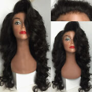 Stock Full Lace Brazilian Natural Color Layered Body Wave Human Hair Wigs 150