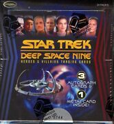 Star Trek Deep Space 9 Heroes And Villains 12 Box Case Blowout Cards