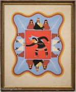 Tom Two Arrows Thomas Dorsey Original Native American Painting Rare And Fine