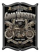 Vintage Sign Made Usa Old Bikes 12 X 16