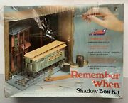 1970s Comet Remember When Railroad Passenger Car Shadow Box Kit, New Other
