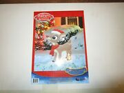Nib 24 Sparkly Rudolph The Red Nosed Reindeer Outdoor Metal Decor Licensed