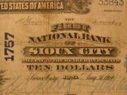 Sioux City Iowa Ia 1902 10.00 Pb Ch. 1757 The First National Bank