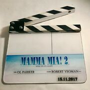 Authentic Mamma Mia 2 Here We Go Again Clapperboard With Coa