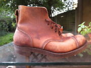 John Cave And Sons Ww2 Officers Leather Hobnail 1945 Boots Size 9
