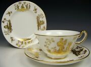 And Co Le Tallec Private Stock Chinoise Hand Painted Trio Tea Cup Saucer A