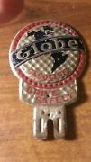 Original 1920and039s 1930and039s Globe Gasoline License Topper.....look