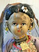 Antique India Rajasthan Village Woman And Baby Cms Mission 1900 Handmade Ooak 3