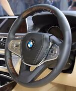 Bmw G11 G12 7 Series 2016+ Fineline Wood And Leather Steering Wheel Non-heated New