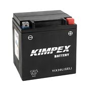 Kimpex Powerpack Battery Ref Yix30lgel Factory Activated Maintenance Free