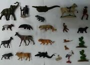 Vintage Clairet Starlux Prior Zoo Animal Figures 23pieces Before Second War 1935