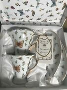 Italian Design 4-piece Boxed Set Tea/coffe Cup And Biscuit Saycer New