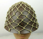 Wwii Japanese Combat Steel Helmet With Net Military Classical Repro