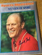 Gerald Ford Hand Signed Autographed Magazine Sports Illustrated 1974 -no Label