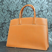 Hermes White Bus 39 Gm Brown Couchevel Leather Tote Bag Handbag 188 Rise-on
