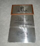 3 Pullman Railroad Car Interior Stainless Scenic Panels Great Northern Railroad