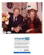 President Gerald Ford And Betty Ford Autograph Signed 8x10 Photo Acoa Psa