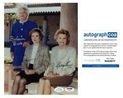 First Ladies Autograph Signed 8x10 Photo Bush Carter Ford Acoa Psa