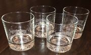4 Chivas Regal 12 Year Etched Whiskey Bar Glasses