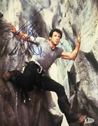 Sylvester Stallone Cliffhanger Rocky Signed Autographed 11x14 Photo Beckett Coa