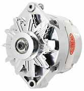 Powermaster 27294 Gm 12si 100 Amp Polished Alternator 1v Pulley 1 Or 3 Wire