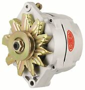 Powermaster 8002 Gm Racing 12si Natural 100amp Alternator 1v Pulley 1 Or 3 Wire