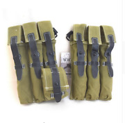 Wwii German Elite Ammo Pouch Canvas Bag Green Collectibles Classical Repro