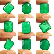 Mix Shape Faceted Green Simulants Doublet Emerald Gemstone Rrrm18643-18692