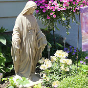 Virgin Mary Statue 34 Blessed Mother Garden Sculpture Resin Religious Home Deco