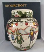 Moorcroft Ginger Jar The Skaters Paul Hilditch Edition 1st Quality Winter Nice